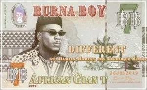 "Burna Boy – ""Different"" ft. Damian Marley x Angelique Kidjo"